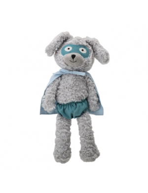 PLUSH BUNNY BLUE POLYESTER